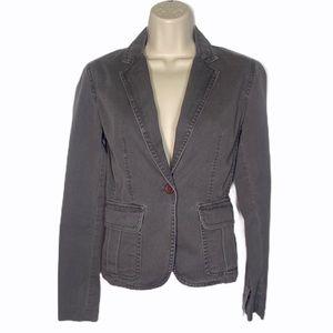 J. Crew Grey CottonTwill Blazer Jacket